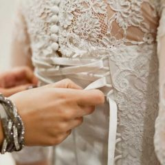 Easy Way to Tie a Corset Wedding Dress!!!